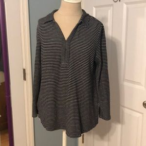 J Jill comfy striped knit top.